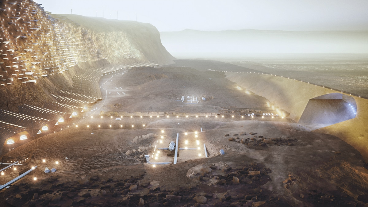 Mars Cliff City. ABIBOO Studio - SONet